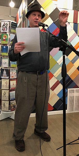 Don reading at Volumes Bookstore in Chicago